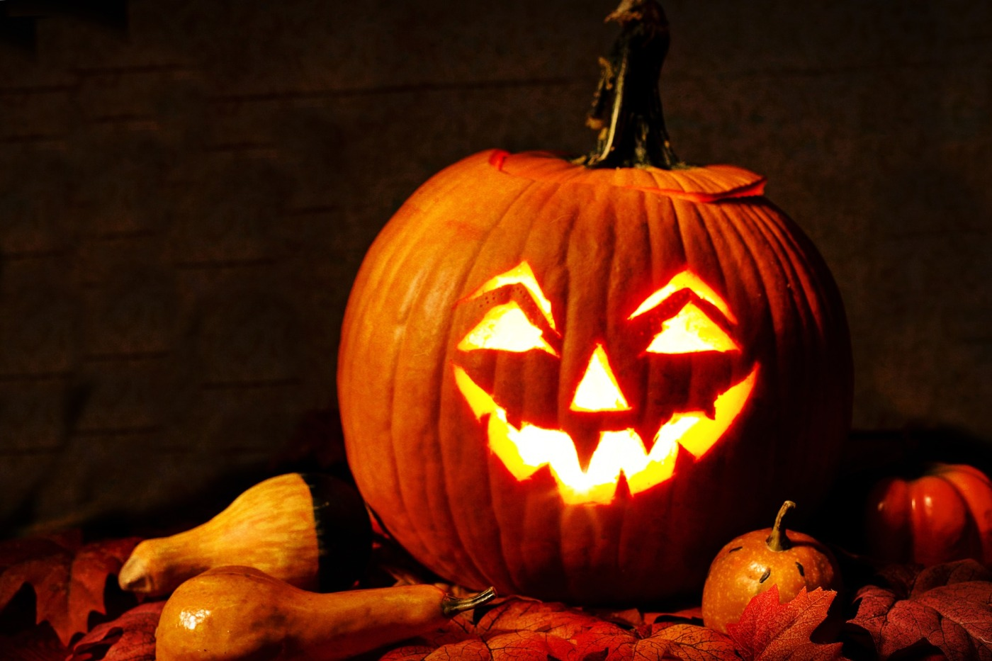 Image of a carved Halloween pumpkin
