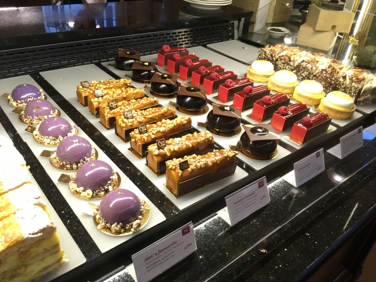 Beautiful mini cakes at cafe central