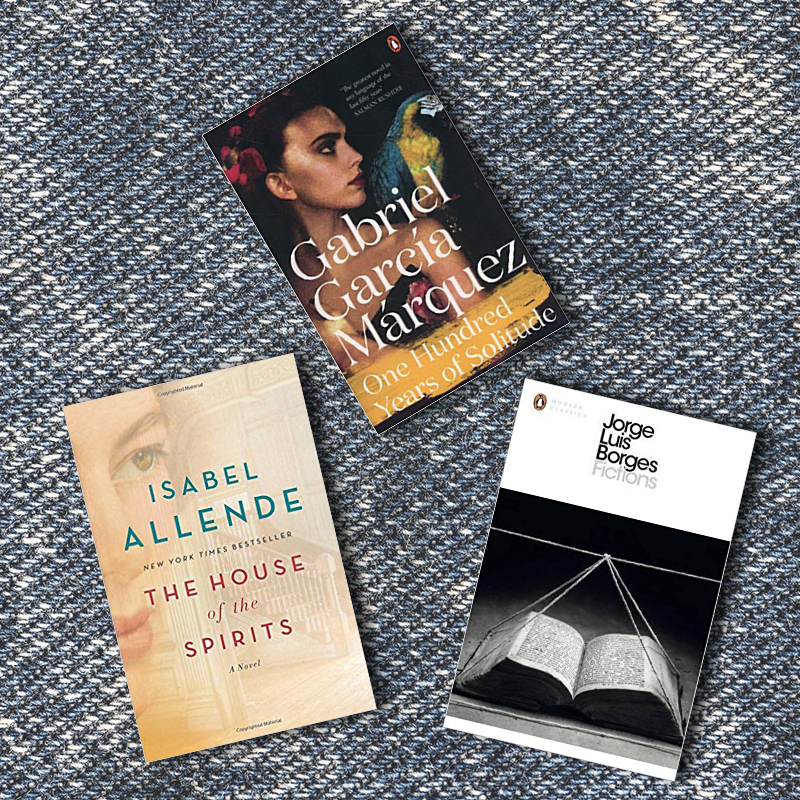 Latin American book recommendations flat lay